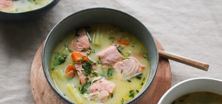 lašišos sriuba