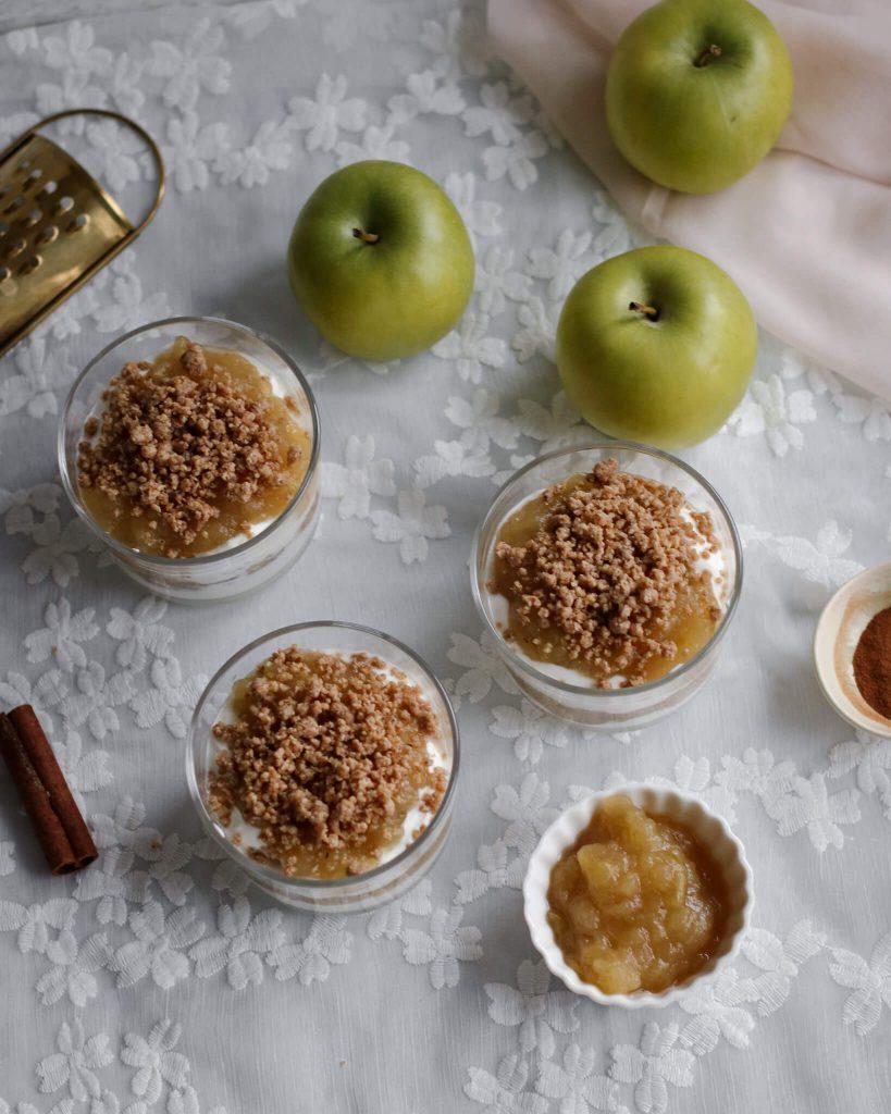 obuolių desertas